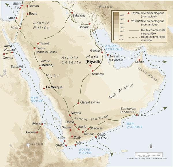 Carte du Hijaz