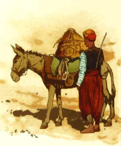 Un âne et un homme