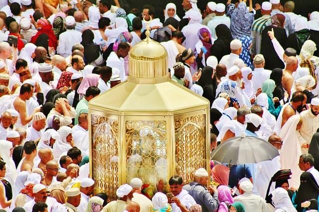 Musulmans à la Mecque - Maqam Ibrâhîm