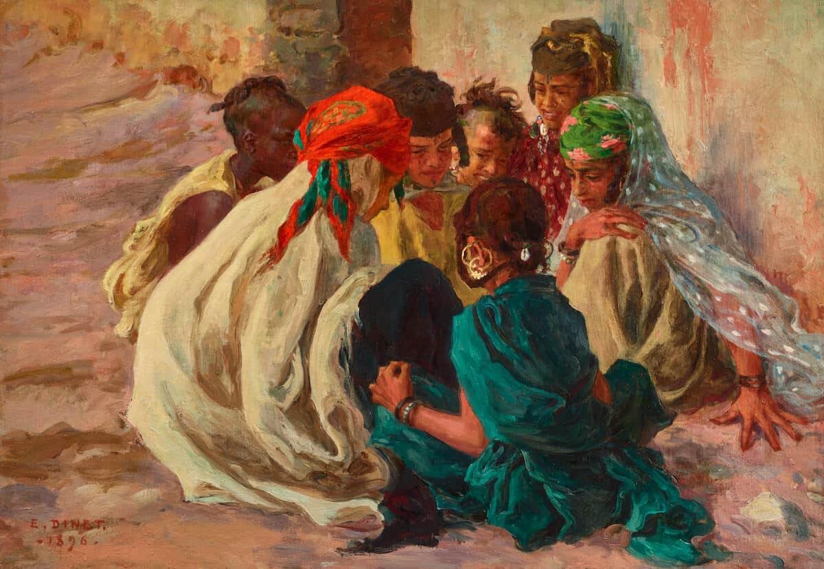 Peinture Etienne Dinet (enfants)